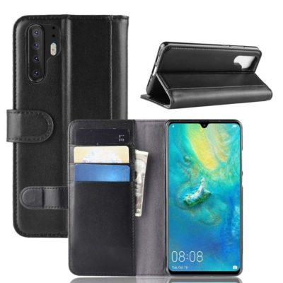Huawei P30 Pro Suojakotelo Musta Nahka