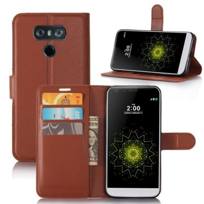 LG G6 H870 Lompakko Suojakotelo Ruskea