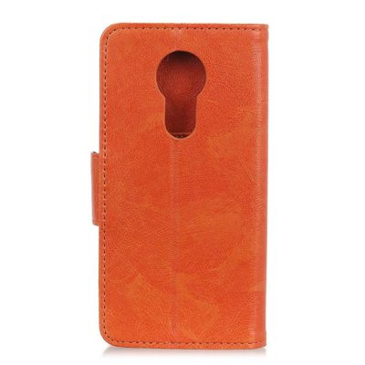 Motorola Moto G7 Power Kotelo Oranssi Nahka