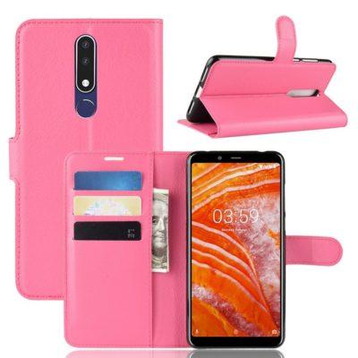 Nokia 3.1 Plus Suojakotelo PU-Nahka Pinkki