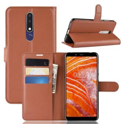 Nokia 3.1 Plus Suojakotelo PU-Nahka Ruskea
