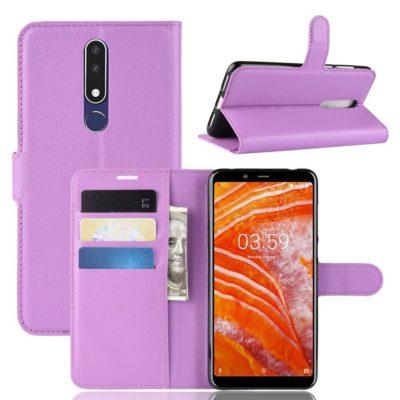 Nokia 3.1 Plus Suojakotelo PU-Nahka Violetti