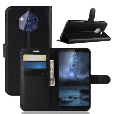 Nokia 9 PureView Suojakotelo PU-Nahka Musta