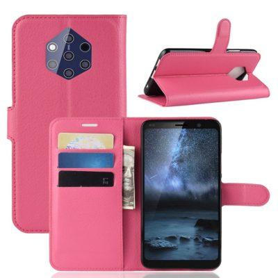 Nokia 9 PureView Suojakotelo PU-Nahka Pinkki