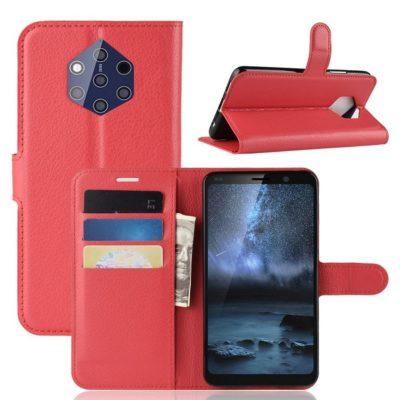 Nokia 9 PureView Suojakotelo PU-Nahka Punainen