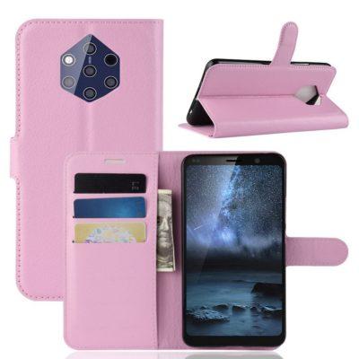 Nokia 9 PureView Suojakotelo PU-Nahka Vaaleanpunainen