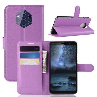 Nokia 9 PureView Suojakotelo PU-Nahka Violetti