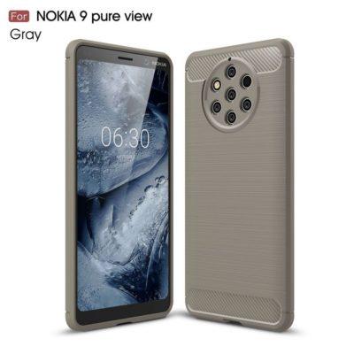 Nokia 9 PureView Suojakuori Hiilikuitu Harmaa