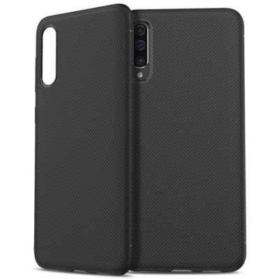 Samsung Galaxy A50 Suojakuori Silikoni Musta