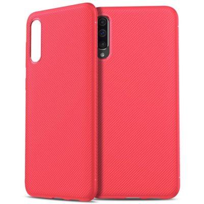 Samsung Galaxy A50 Suojakuori Silikoni Punainen