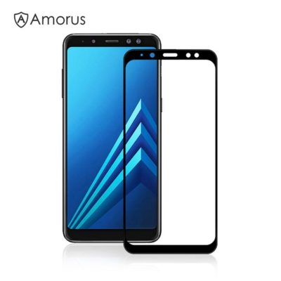 Samsung Galaxy A8 (2018) Panssarilasi Amorus Musta