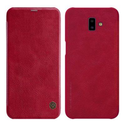 Samsung Galaxy J6+ (2018) Kotelo Nillkin Qin Punainen