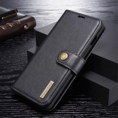 Samsung Galaxy S10+ 2-in-1 Nahkakotelo DG.MING Musta