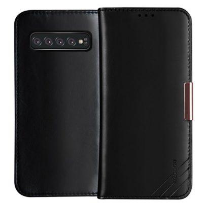 Samsung Galaxy S10+ Nahkakotelo DZGOGO Musta