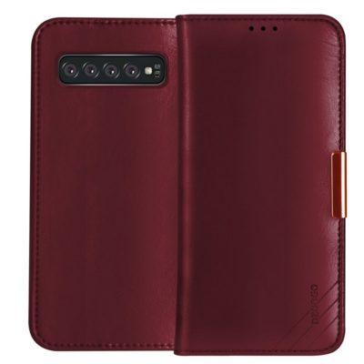 Samsung Galaxy S10+ Nahkakotelo DZGOGO Punainen