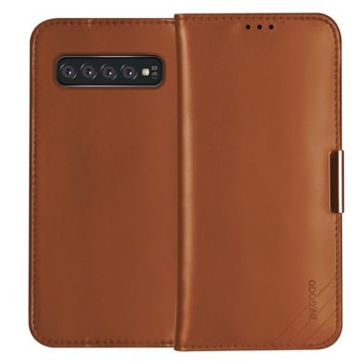 Samsung Galaxy S10+ Nahkakotelo DZGOGO Ruskea