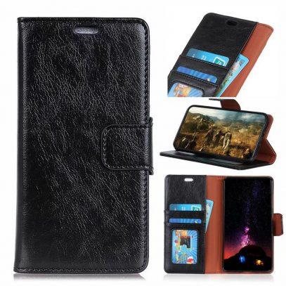 Samsung Galaxy S10+ Nahkakotelo Musta