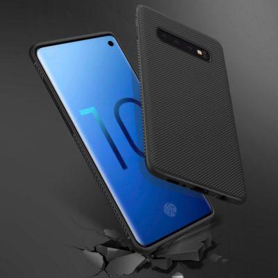 Samsung Galaxy S10+ Suojakuori Silikoni Musta