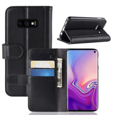 Samsung Galaxy S10e Suojakotelo Musta Nahka