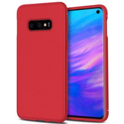 Samsung Galaxy S10e Suojakuori Silikoni Punainen