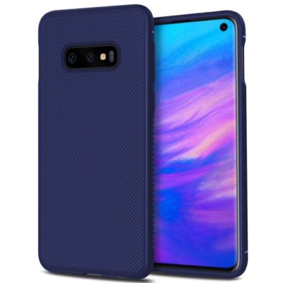 Samsung Galaxy S10e Suojakuori Silikoni Sininen