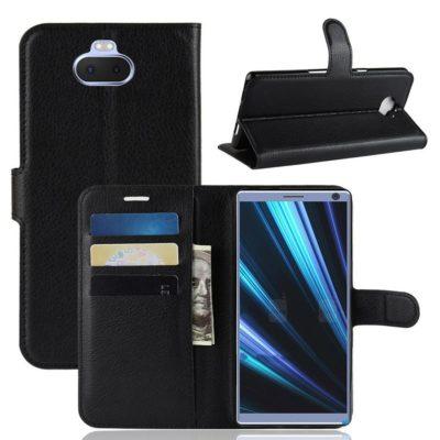 Sony Xperia 10 Plus Kotelo Musta Lompakko