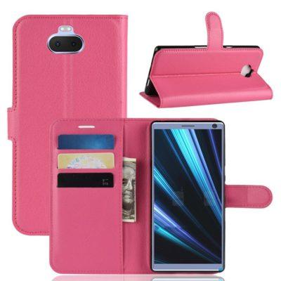 Sony Xperia 10 Plus Kotelo Pinkki Lompakko