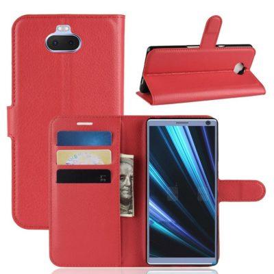 Sony Xperia 10 Plus Kotelo Punainen Lompakko