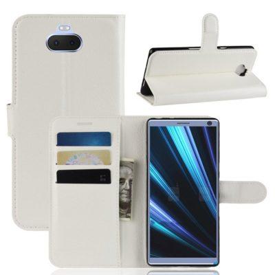 Sony Xperia 10 Plus Kotelo Valkoinen Lompakko