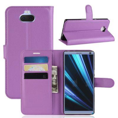 Sony Xperia 10 Plus Kotelo Violetti Lompakko