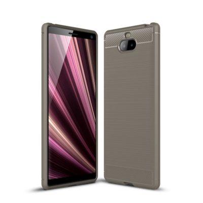 Sony Xperia 10 Suojakuori Hiilikuitu Harmaa