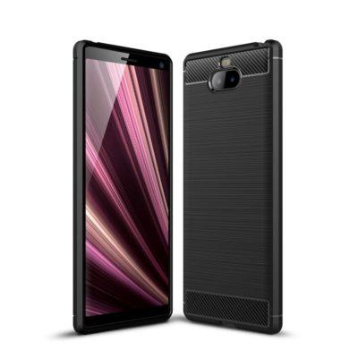 Sony Xperia 10 Suojakuori Hiilikuitu Musta