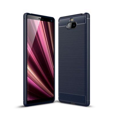 Sony Xperia 10 Suojakuori Hiilikuitu Tummansininen