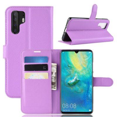 Huawei P30 Pro Suojakotelo PU-Nahka Violetti