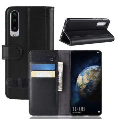Huawei P30 Suojakotelo Musta Nahka