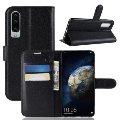 Huawei P30 Suojakotelo PU-Nahka Musta