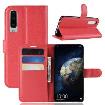 Huawei P30 Suojakotelo PU-Nahka Punainen