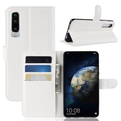 Huawei P30 Suojakotelo PU-Nahka Valkoinen