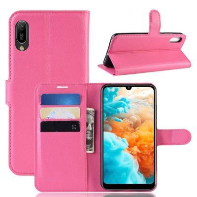 Huawei Y6 (2019) Suojakotelo PU-Nahka Pinkki