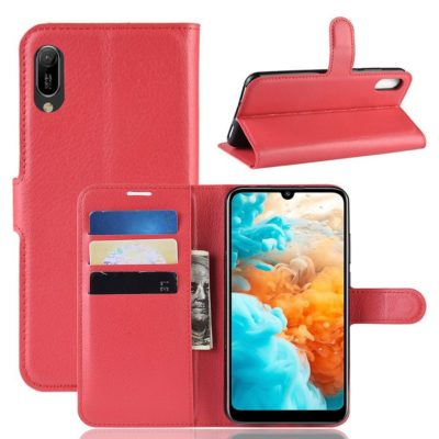 Huawei Y6 (2019) Suojakotelo PU-Nahka Punainen