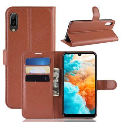 Huawei Y6 (2019) Suojakotelo PU-Nahka Ruskea