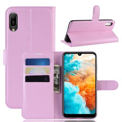 Huawei Y6 (2019) Suojakotelo PU-Nahka Vaaleanpunainen