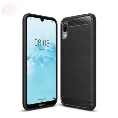 Huawei Y6 (2019) Suojakuori Hiilikuitu Musta