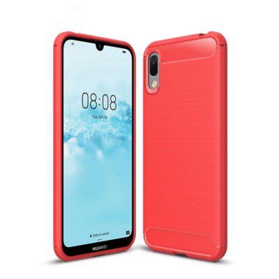 Huawei Y6 (2019) Suojakuori Hiilikuitu Punainen