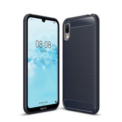 Huawei Y6 (2019) Suojakuori Hiilikuitu Sininen