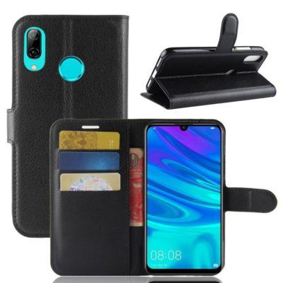 Huawei Y7 (2019) Suojakotelo PU-Nahka Musta