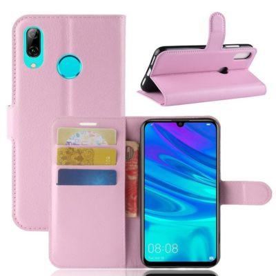 Huawei Y7 (2019) Suojakotelo PU-Nahka Vaaleanpunainen