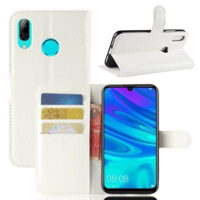 Huawei Y7 (2019) Suojakotelo PU-Nahka Valkoinen