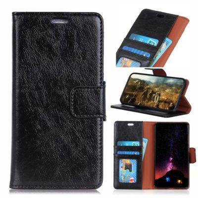 Nokia 3.1 Plus Suojakotelo Musta Nahka