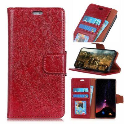 Nokia 3.1 Plus Suojakotelo Punainen Nahka